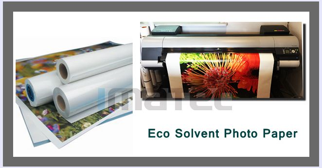 30M Eco Oplosbaar Media RC Glanzend Fotodocument voor Roland Mimaki Printer