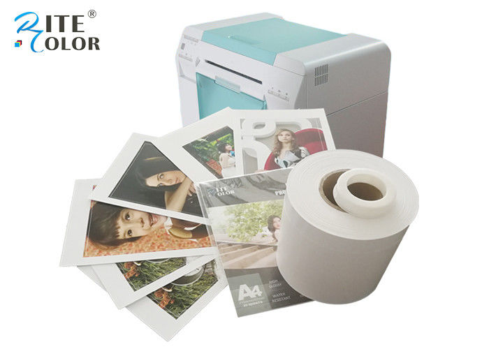 White Dry Lab Glossy Photo Paper Roll Inkjet For Noritsu D701 D502 Printer